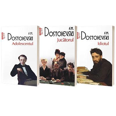 Serie de autor Feodor Dostoievski. Adolescentul, Jucatorul si Idiotul (set de 3 carti)
