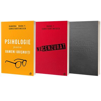 Serie de autor Radu F. Constantinescu. Filosofia sexului, Necenzurat si Psihologie (set de 3 carti)