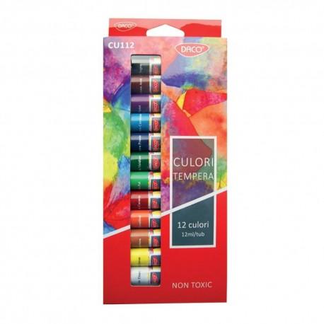 Culori tempera 12 culori, Daco