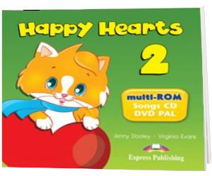 Curs pentru limba engleza Happy Hearts 2 - multi-ROM. Song CD - DVD PAL
