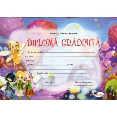 Diploma gradinita - Format A4, model imagine zane