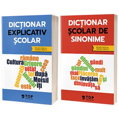 Set de dictionare scolare cu acces la varianta digitala - Sinonime si Dictionar explicativ scolar