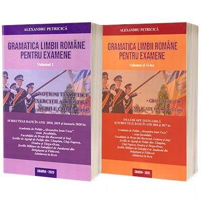 Gramatica limbii romane pentru examenul la Academia de Politie si Scolile de Agenti de Politie 2020, set 2 carti