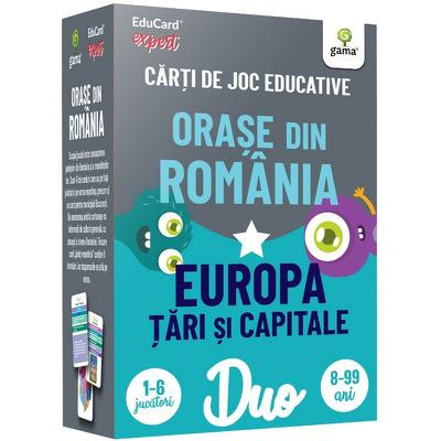 Orase din Romania- Europa: Tari si capitale. DuoCard