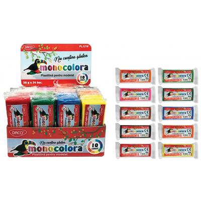 Plastilina 50g monocolora Daco PL1210
