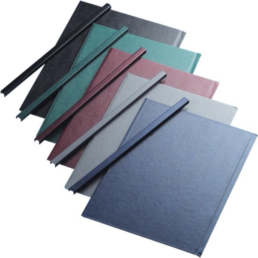 Sina metalica structura panzata, A5, 91-120 pag.(13 mm) 10 buc/set, Metal -Bind Opus - albastru